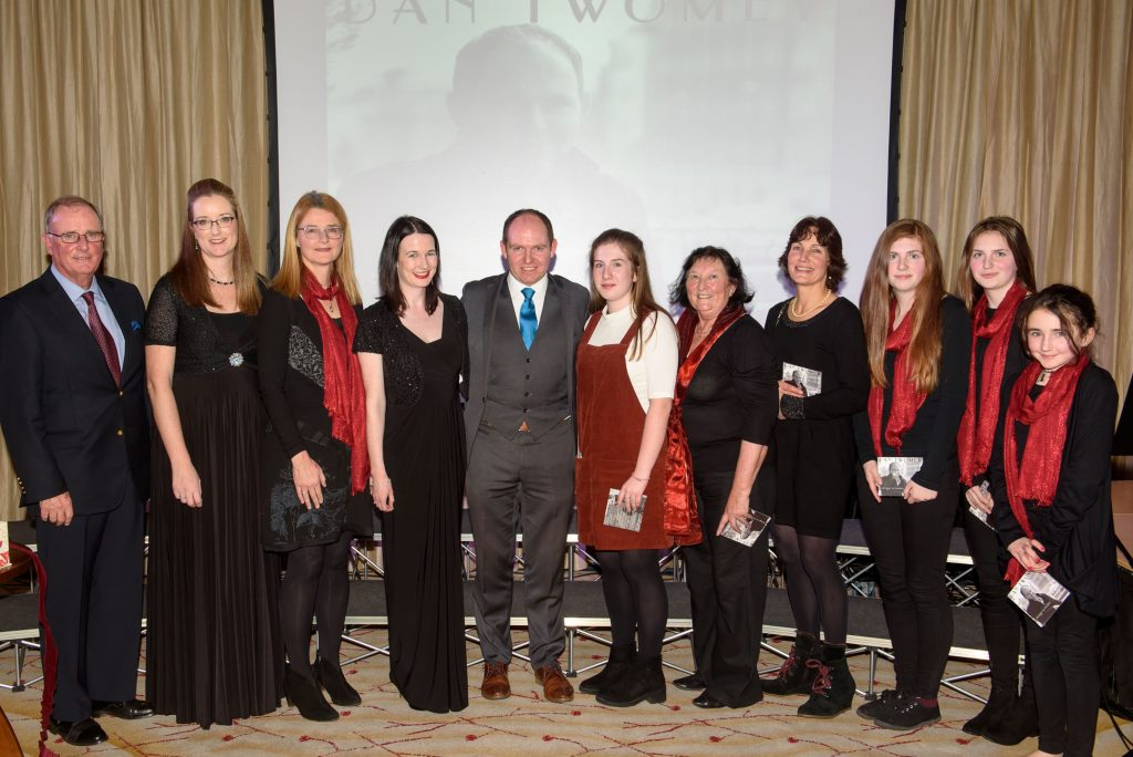 Pictured at the launch of tenor soloist Dan Twomey's debut album were L to R Kevin Goggin MCMaria Mulcahy,Flautist,Orla Busteed Tracton Harp Ensemble,Mary McCague,Piano,Dan Twomey, Maedbh O'Shea, Mary Malone, Carrigaline Choral Group, Gerda Marwood,Cello, Caragh Allen, Blaithin Allen and Seraphina Emerson ,Tracton Harp Harp Ensemble.Picture Robert Bateman. No Fee Required
